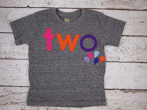 Balloon shirt Girl's Birthday Tee rainbow hot pink purple Organic Shirt Blend first birthday shirt photo prop