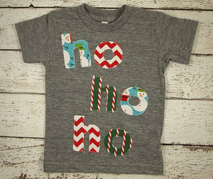 ho ho ho Christmas shirt, Kids Christmas shirt, hip kids Christmas shirt