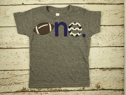 Football shirt sports themed birthday tee children's football tee football party first birthday second etc baseball tee