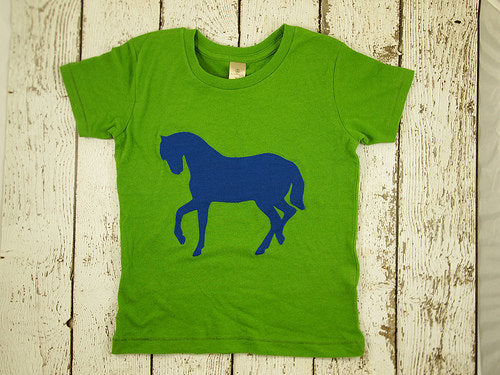 Horse Tee for boys or girls tshirt organic blend barnyard tee cowgirl cowboy colors can be cusotmized