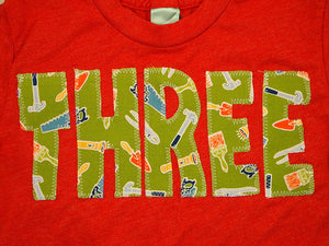 Construction shirt tools hammer Boys Birthday Shirt Organic Blend children's birthday shirt builder