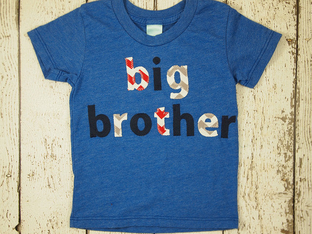 Sibling Shirt or one-piece Little Brother Little Sister and Big Brother Big Sister handmade Shirt Organic Blend Tee