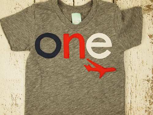 Airplane shirt, Boys Birthday Tee, Organic Blend Toddler Airplane birthday