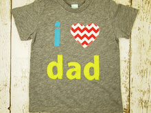 Load image into Gallery viewer, Father's Day Shirt children's tshirt I love dad first father's day