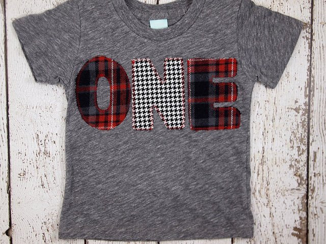 Red and Black Plaid and Houndstooth Shirt Birthday Tee Organic Shirt Blend Grey lumberjack plaid