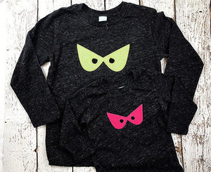 Spooky eyes Halloween Shirt Children's Halloween Tee available for baby toddler children long sleeve and short sleeve organic