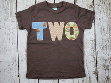 Load image into Gallery viewer, Camping shirt Children's camping tee Birthday Tee Organic Shirt Blend campfire woods woodland tent