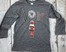 Load image into Gallery viewer, Children's Christmas shirt nutcracker for boy's or girl's Joy Christmas tee custom shirt long sleeve baby twins holiday shirt