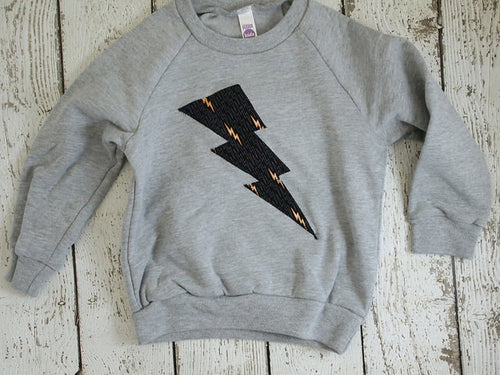 Boy's sweatshirt lightning bolt superhero shirt toddler and children long sleeve children's clothing