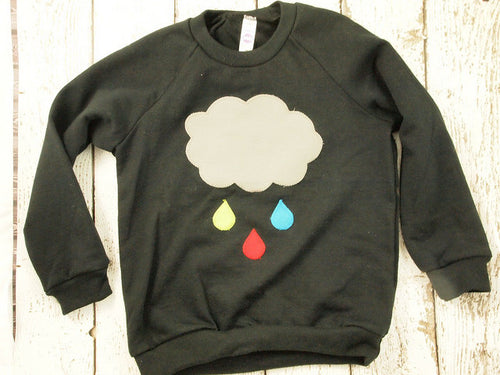 Cloud shirt Children's sweatshirt girl's and boy's shirt raindrop colorful