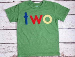 lowercase Primary Colors Birthday Tee Organic Shirt Blend first birthday shirt photo prop red, blue, green