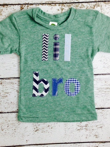 Little Brother shirt lil bro sibling tee chevron plaid houndstooth etc construction children's shirt unique baby gift