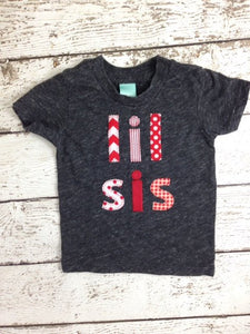 lil sis shirt Sibling Shirt Little Brother Little Sister and Big Brother Big Sister handmade Shirt Organic Blend Tee