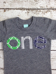 one simple heathered Birthday Tee Organic Shirt Blend first birthday shirt first birthday shirt green geometric colorful prints
