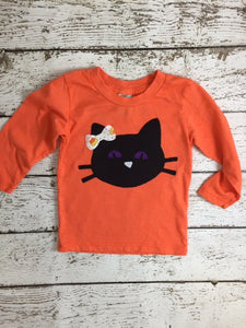 Boy's Halloween Shirt Black cat Childrens Halloween Tee candy corn black and orange available for baby toddler children