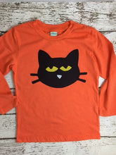 Load image into Gallery viewer, Boy's Halloween Shirt Black cat Childrens Halloween Tee candy corn black and orange available for baby toddler children
