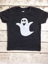 Load image into Gallery viewer, Halloween shirt ghost tee Shirt Organic Shirt Blend Halloween cut Halloween tee for boy or girl infant toddler youth short or long sleeve