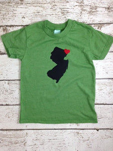 State shirt Home is where the heart is tee select your state and where heart should be placed children's tee baby present organic blend