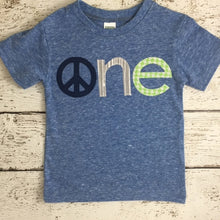 Load image into Gallery viewer, Peace shirt pax peace and love children's birthday shirt Boys and Girls custom tee can be customized for any birthday colors