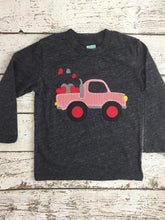 Load image into Gallery viewer, Children's Valentine's Day shirt monster truck hearts children's tee boy's shirt cute kid's tee unique long sleeve shirt