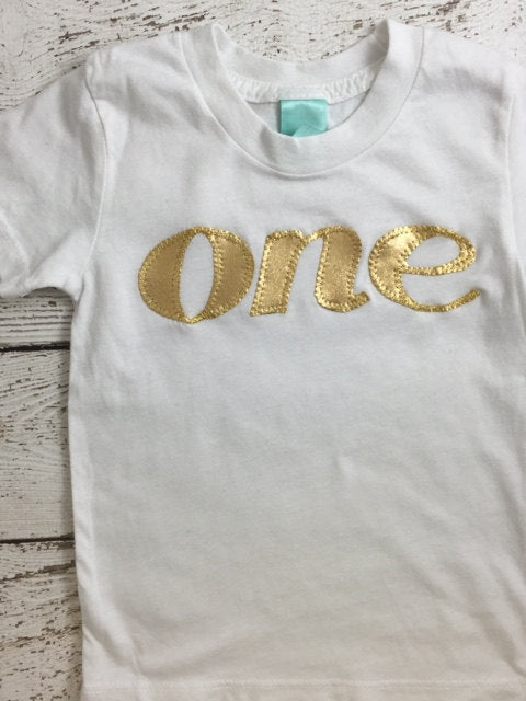 Girl's birthday shirt, sparkly birthday shirt, gold birthday