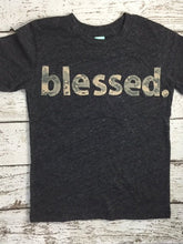 Load image into Gallery viewer, Blessed Shirt Children's blessed tee great for church Christian shirt customizable camo print girls shirt boys shirt