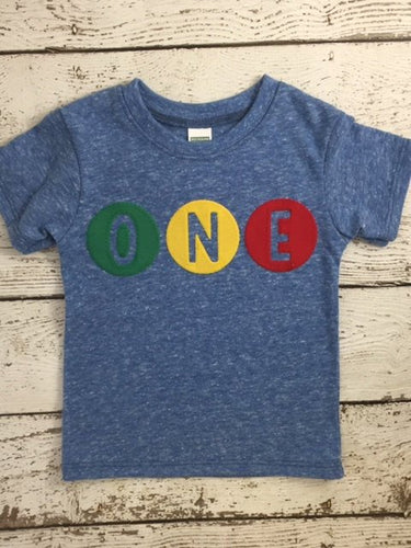 Primary Colors Birthday Tee Organic Shirt Blend perfect for boys or girls all party themes first birthday shirt second third fourth