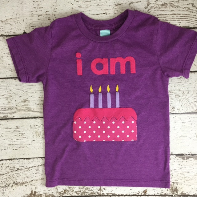 i'm this many shirt, Children's birthday shirt, girl's birthday shirt