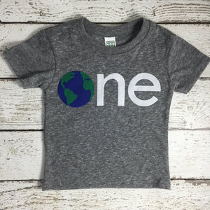 Children's birthday shirt, first birthday shirt, earth day shirt