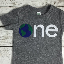 Load image into Gallery viewer, Children's birthday shirt, first birthday shirt, earth day shirt