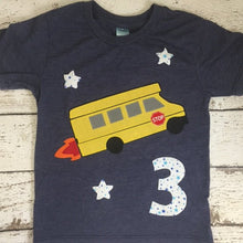 Load image into Gallery viewer, School bus shirt, Transportation party, school bus party