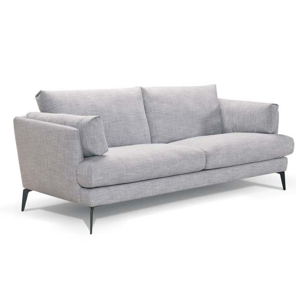 Addington Fabric Sofa Couch with Black Legs Bolsters Modern Scandinavian Design Side Profile