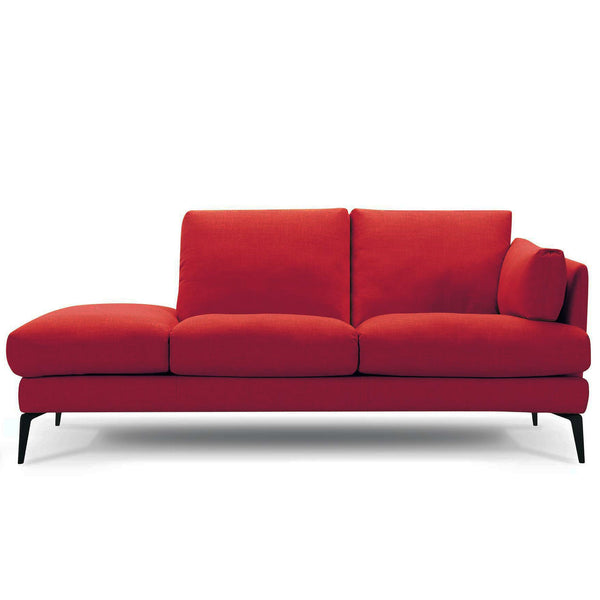 Addington chaise sofa in red velvet