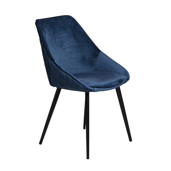 Ashley blue velvet chair