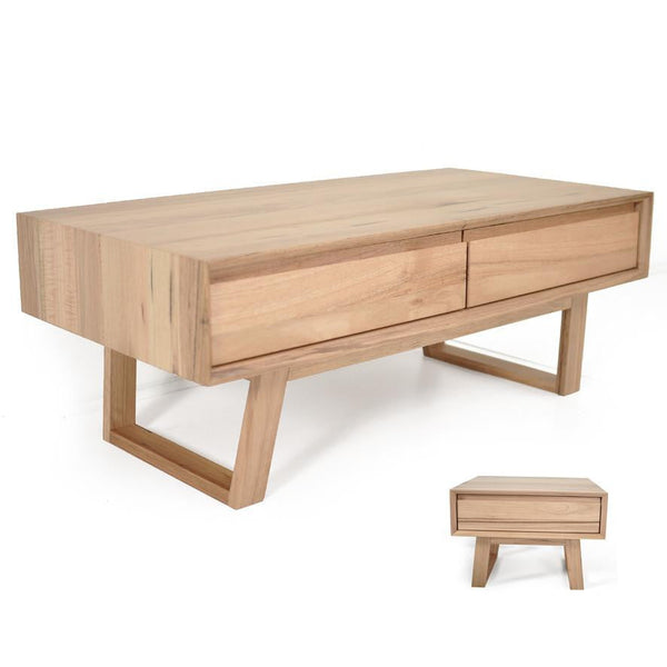 Baxter : Coffee & Lamp Table in Messmate Hardwood - Modern Home Furniture