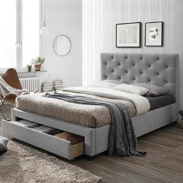 Bayside : Fabric Bed Buttoned Headboard - Modern Home Furniture