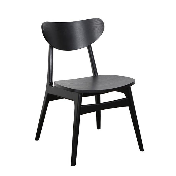 Finland Dining Chair Black with Timber Seat