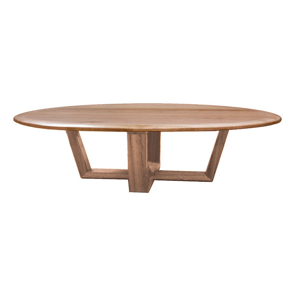 Bondi Baxter Round Coffee Table Solid Messmate Timber Scandinavian Design