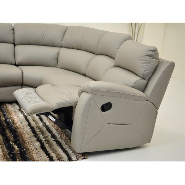 Boston : Leather Corner Recliner - Modern Home Furniture