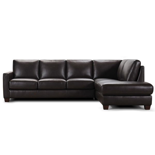 Botanic Leather Sofa Bed in Corner Chaise Terminal with Memory Foam Mattress