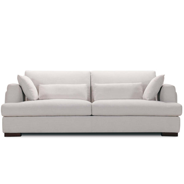 Brooks : Fabric Sofa with Lumber Cushions - Modern Home Furniture