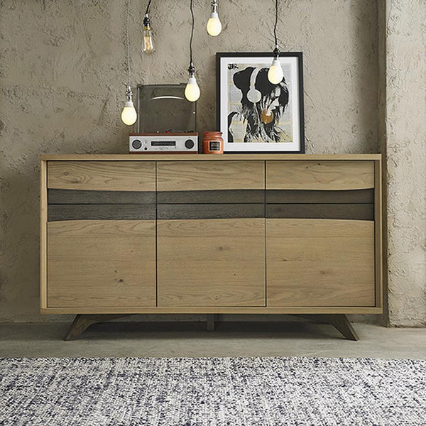 Cadell: Buffet Cabinet in Aged Oak - Modern Home Furniture