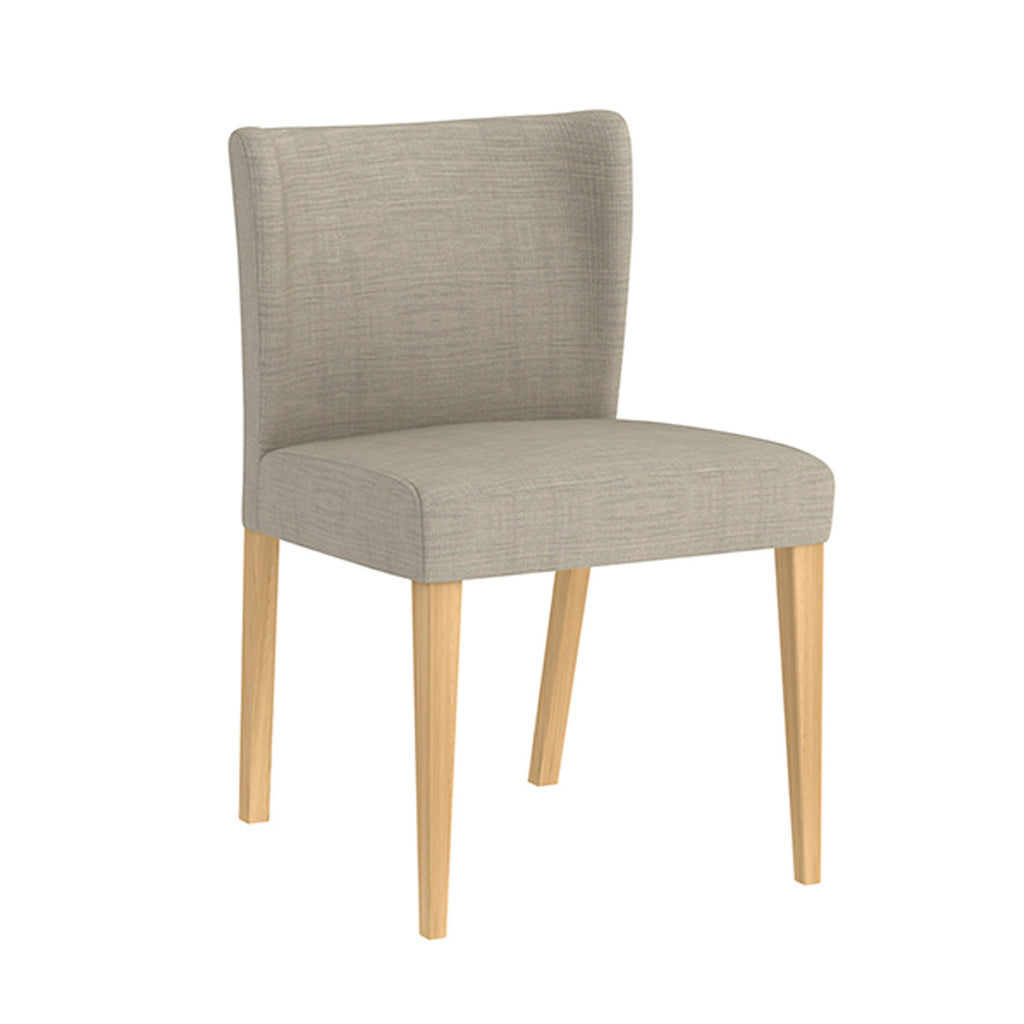 Kyoto: Dining Chair in American white Oak timber with Victoria Linen - Modern Home Furniture