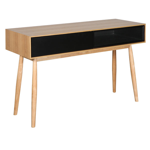Finland : Console Table Ash Veneer Black cavity - Modern Home Furniture