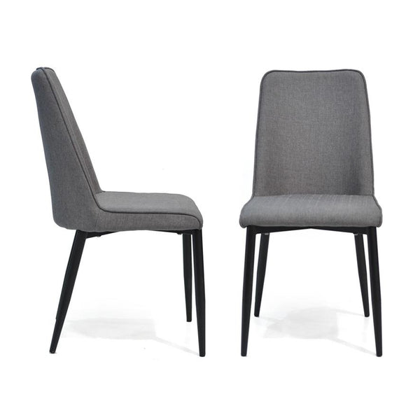Globe : Dining Chair Grey fabric - Modern Home Furniture