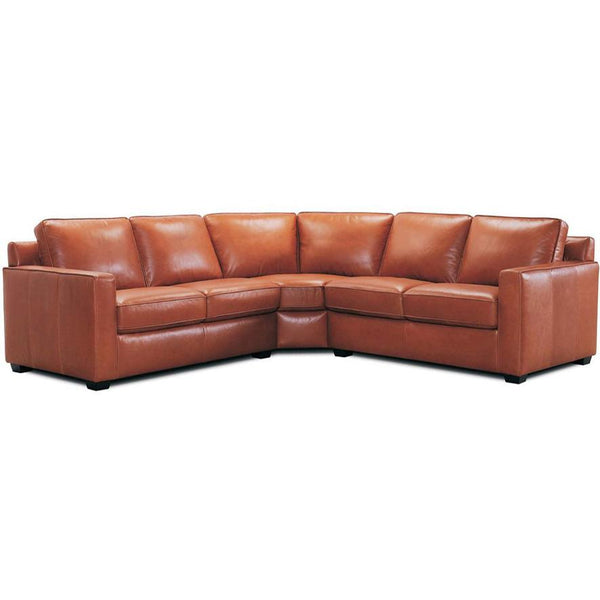 Hendrix : Corner Sofa in Leather or Fabric with Box Arm - Modern Home Furniture