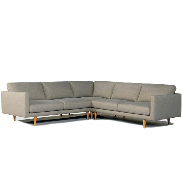 Kingsley : Corner Sofa in Fabric with Pencil Legs - Modern Home Furniture