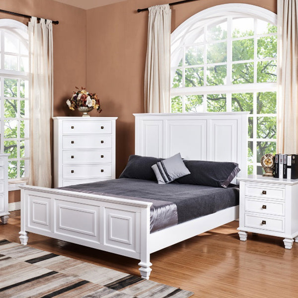 Miranda : Bedroom Suite in White Timber - Modern Home Furniture