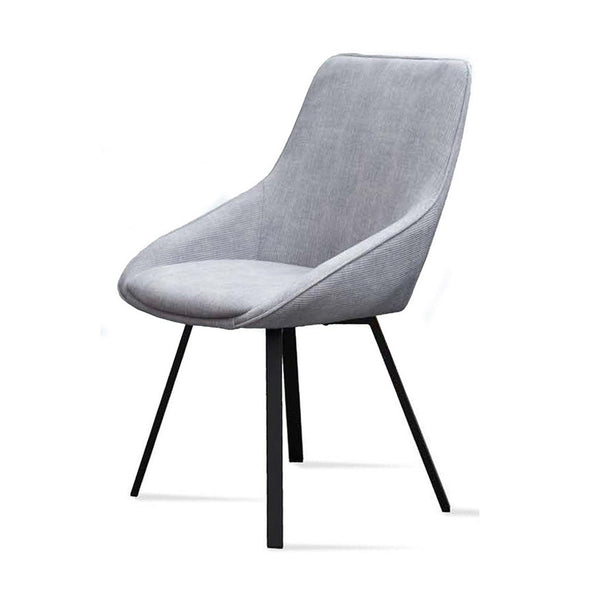Andrea dining chair light grey fabric
