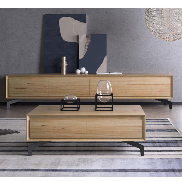 Riva : TV Unit in Messmate Timber - Modern Home Furniture